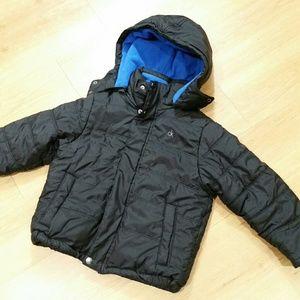 Calvin Klein Boys Puffer Jacket Black Size Medium